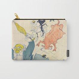 """Henri de Toulouse-Lautrec """"La Vache Enragée (The Mad Cow)"""" Carry-All Pouch"""