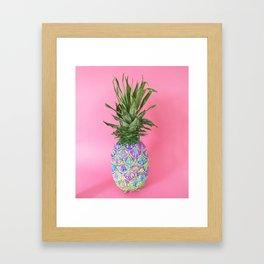 Tropical Painted Pineapple Framed Art Print