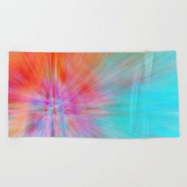 Abstract Big Bangs 002 Beach Towel