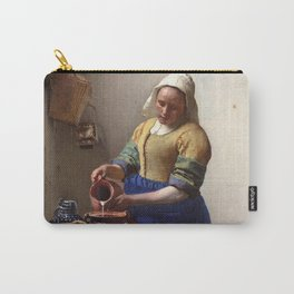 Jan Vermeer-The Milkmaid Carry-All Pouch