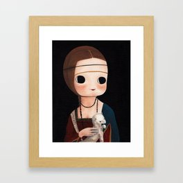 The Lady with Ermine Framed Art Print