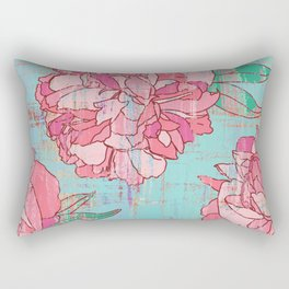 Pink roses, floral print in pastels Rectangular Pillow