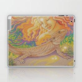 Sun And Dragon, Bearded Dragon Art Laptop & iPad Skin