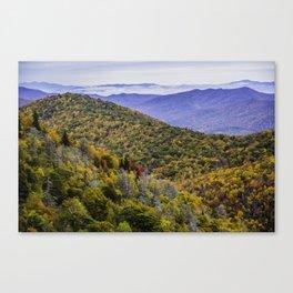 Mountain Fall Leaf Color Canvas Print