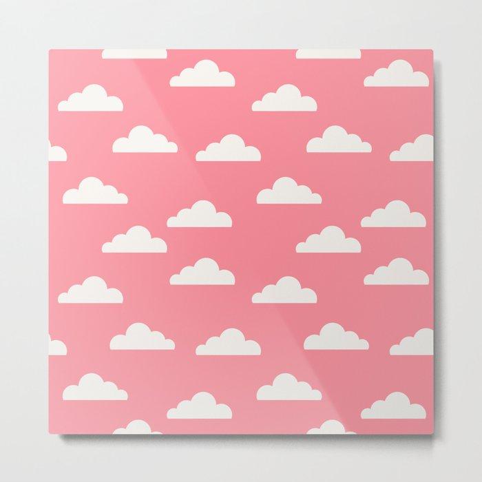 Clouds Pink Metal Print