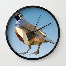 Geometric Quail Wall Clock