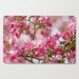 Bright Pink Crabapple Blossoms Cutting Board