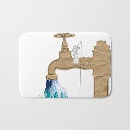 Paper Faucet Bath Mat