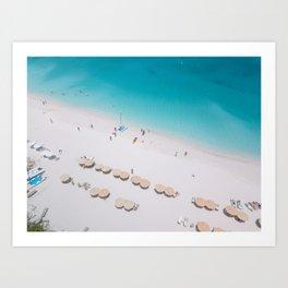 World's Best Beach Art Print
