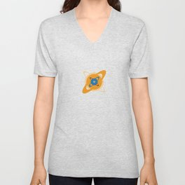 Solar System To Scale - Concentric Unisex V-Neck