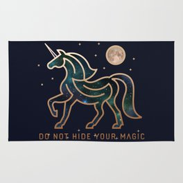 Do Not Hide Your Magic - Galactic Unicorn Rug