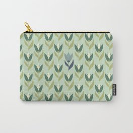 Field of Tulips green background Carry-All Pouch