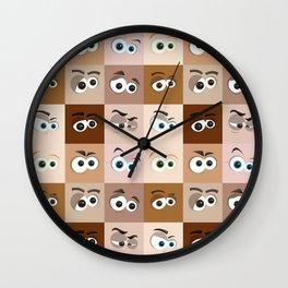 Cartoon Eyes Wall Clock