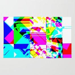 Glitch geometric pattern design artwork Rug
