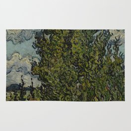 Cypresses and Two Women Rug