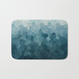 Ice Blue Mountains Moon Love Bath Mat