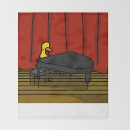 Ducky Pianist | Veronica Nagorny Throw Blanket