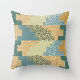 Shapes and dots Throw Pillow