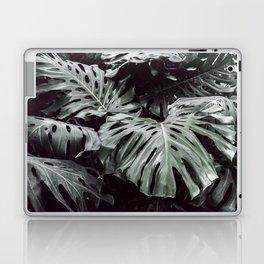 Tropical Leaves Cool Blue Laptop & iPad Skin
