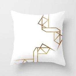 industrial golden glitters Throw Pillow
