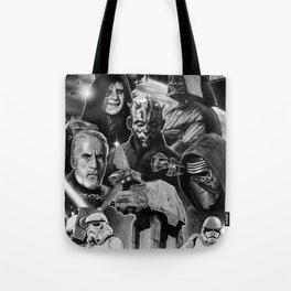 Dark Side StarWars Darth Vader Darth Maul Sith Storm Trooper kylo Dooku Sidious Tote Bag
