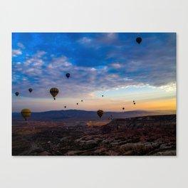 Balloons on Cappadocia sunrise Canvas Print