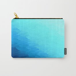 Turquoise Blue Texture Ombre Carry-All Pouch