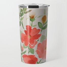 Fall Knockout Roses Travel Mug