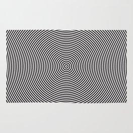 op art - circles Rug