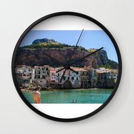 Cefalù Beach Wall Clock