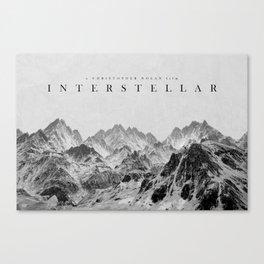 Interstellar Poster Canvas Print