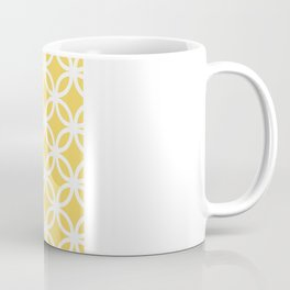 Yellow Geometric Circles Coffee Mug