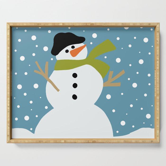 Cute snowman Serving Tray