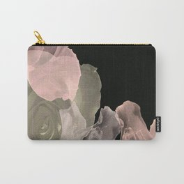 Blush Abstract Roses on Blackground Carry-All Pouch