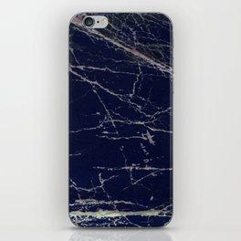 Blue Marble Crease Texture Design iPhone Skin