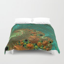 Cool Creamsicle - Fractal Art Duvet Cover