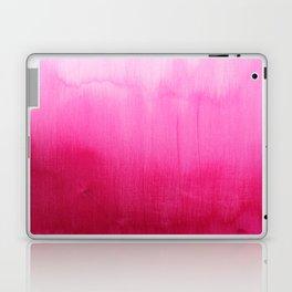 Modern fuchsia watercolor paint brushtrokes  Laptop & iPad Skin