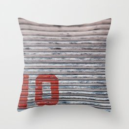 Abstract Corrugated Metal Texture - No Throw Pillow