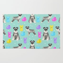 Schnauzer dog breed peeps marshmallow easter spring dog pattern gifts schnauzers Rug