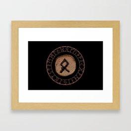 Othala Rune ancestral property, one's homeland or a sense of physical, mental, emotional, spiritual Framed Art Print