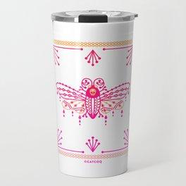 Death's Head Hawkmoth – Pink Ombré Palette Travel Mug