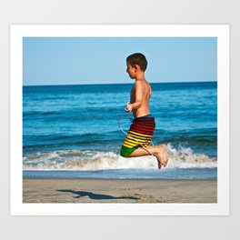 Ocean Jump Art Print