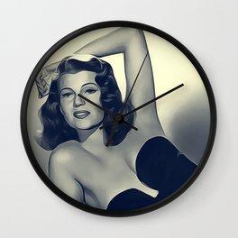 Rita Hayworth Wall Clock