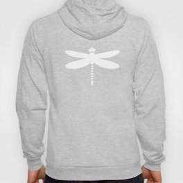 Dragonfly (white on blue) Hoody