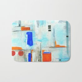Nautical Intentions, Abstract Art Painting Bath Mat