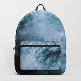 Wave in Ireland during sunset - Oceanscape Backpack