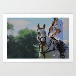 Popcorn the Polo Pony Art Print