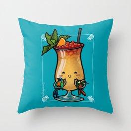 Food Series - Trinidad Cobbler (blue) Throw Pillow