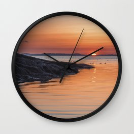 Plum Cove Sunset Wall Clock