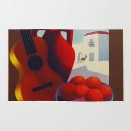 Vintage Spain Travel Poster - Guitar Rug